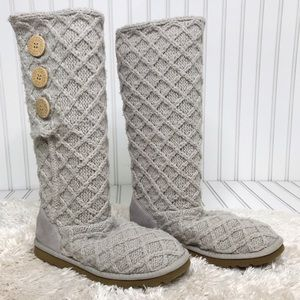 UGG Lattice Cardy Knit Boot Tall Size 8